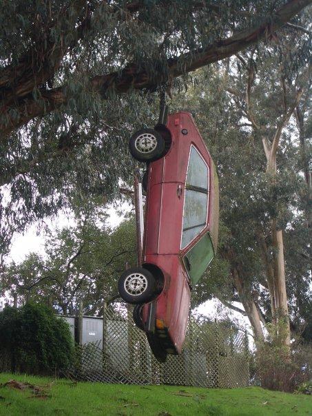 hanging car