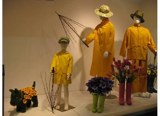 raincoats and flowers