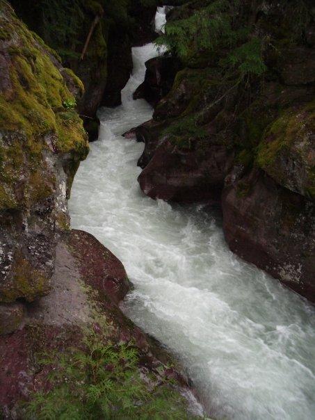 waterfall glacier