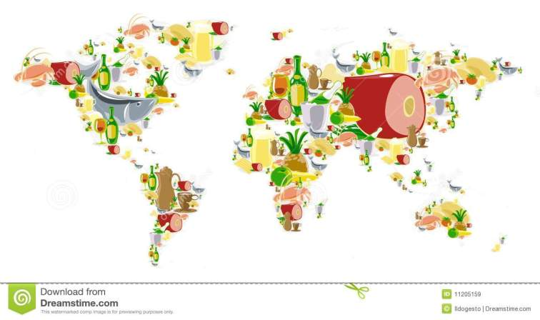 world-map-food-drinks-11205159